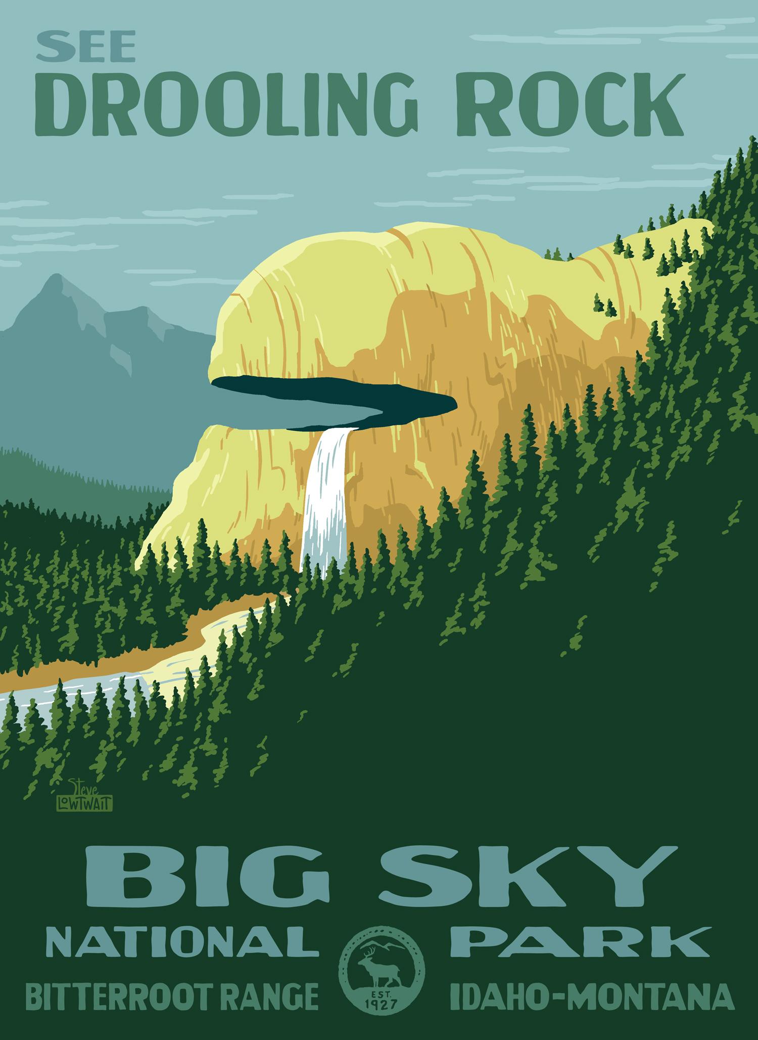 Drooling Rock, Big Sky National Park •  Buy