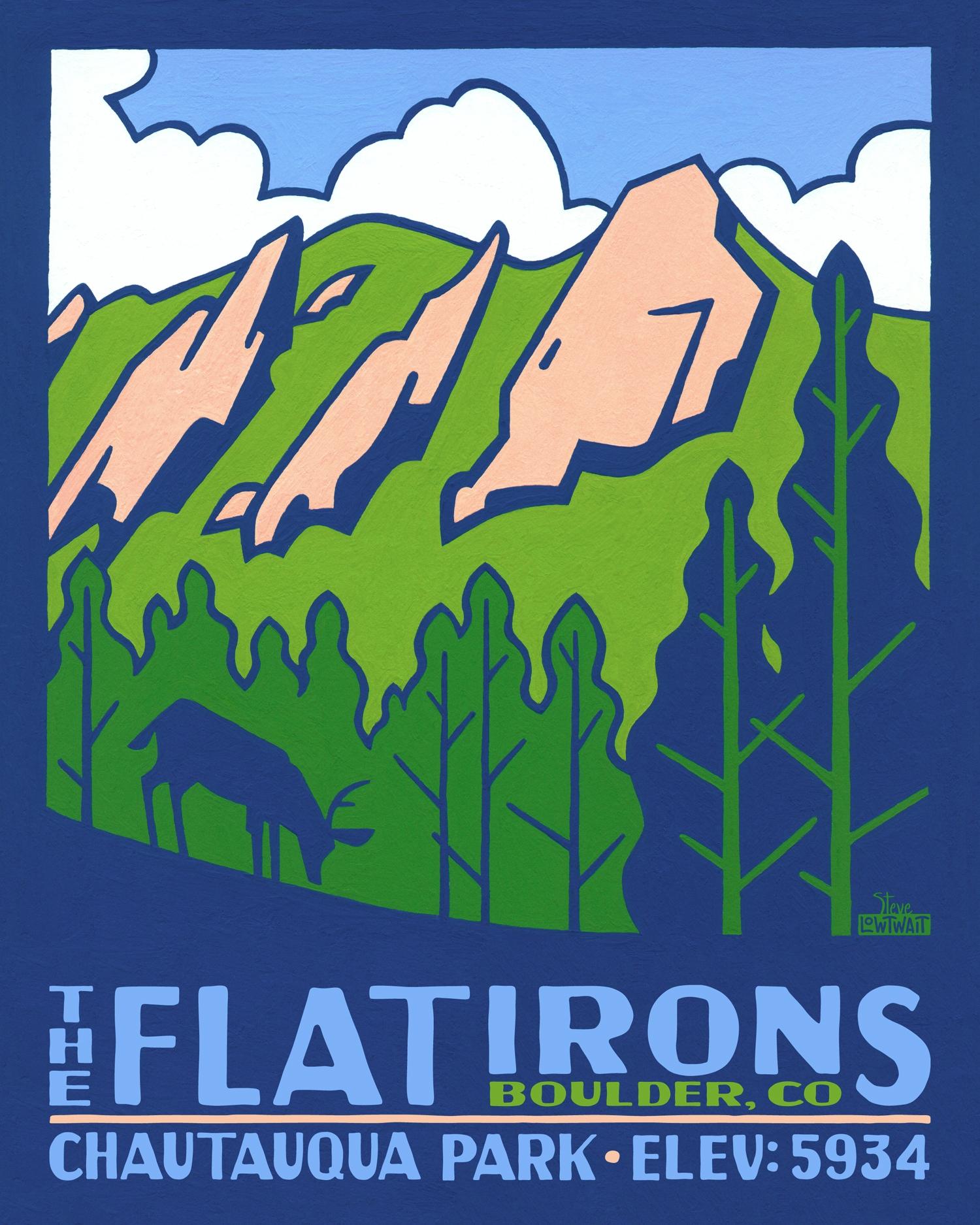 The Flatirons - Boulder, Colorado •  Buy