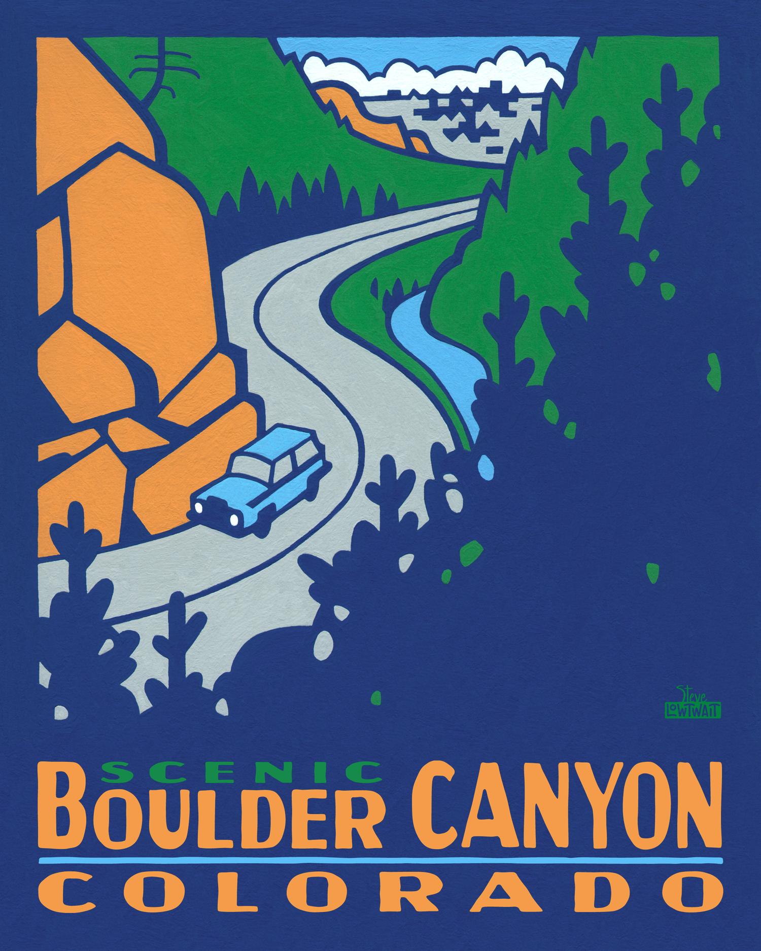 Boulder Canyon - Colorado •  Buy