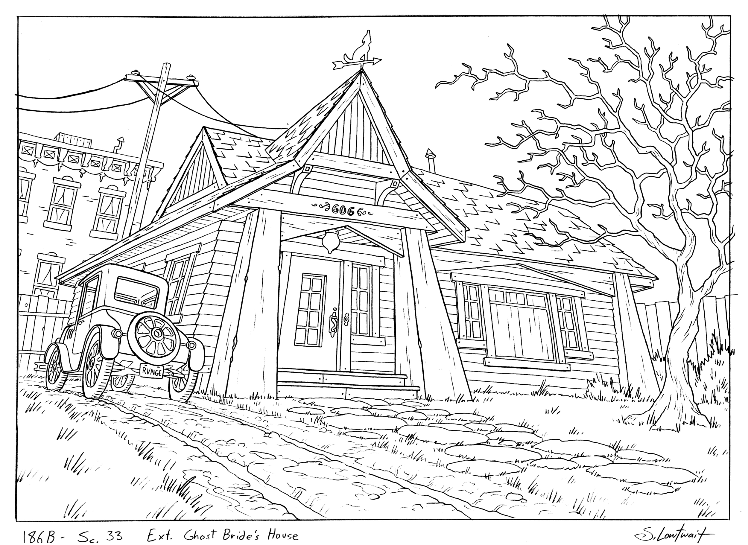 """""""RVNGE""""Another personal favorite from a spooky episode. Is this craftsman home the site of a murder?"""