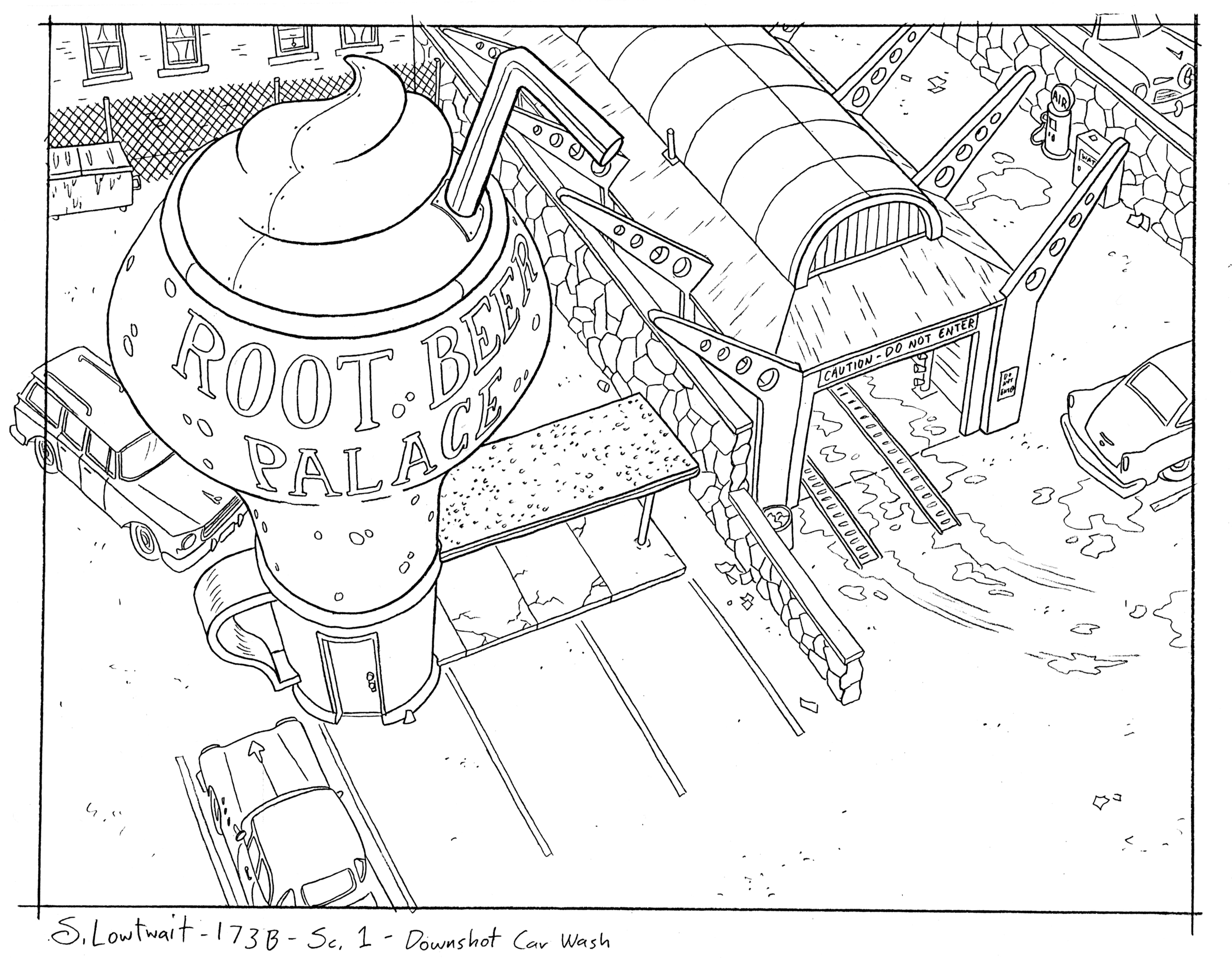 The realism of the city didn't often allow for more imaginative architecture, but sometimes I got to get morecreative.