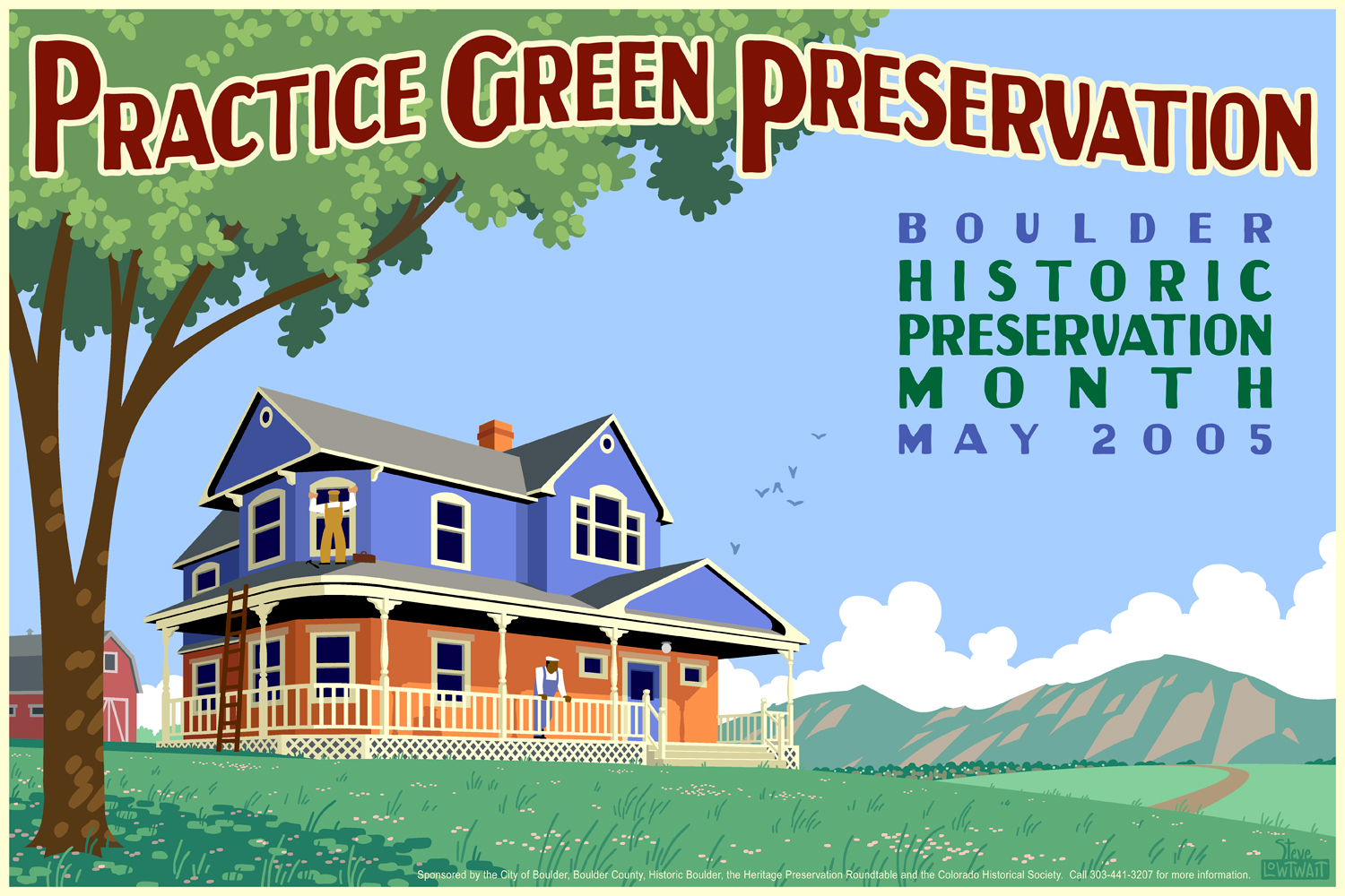 Historic Preservation Month • This poster shows the importance of preserving historic homes.  Client: City of Boulder