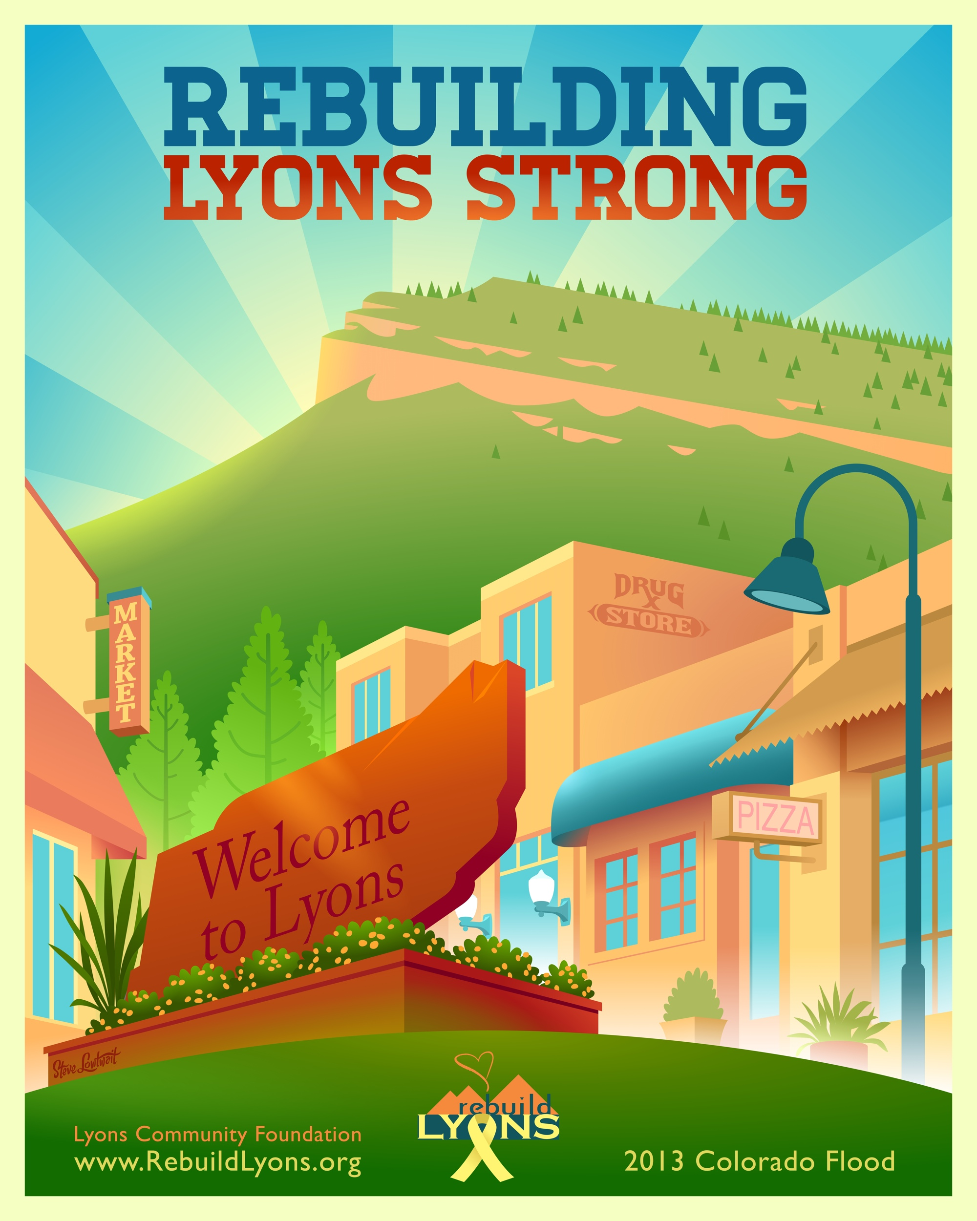 Rebuilding Lyons Strong • In September 2013, flood waters destroyed large sections of Lyons, Colorado. Rebuild costs were in the millions and this piece helped spread awareness for the restoration of the foothill town.