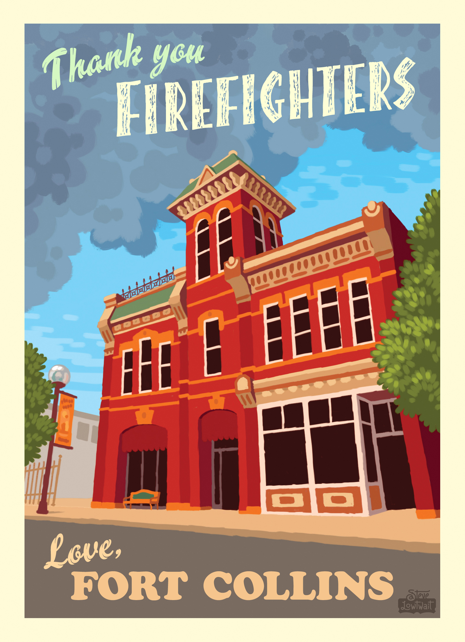 High Park Fire -Fort Collins,Colorado, 2012. •Smoke flumes from the fire float over the town's historic firehouse. It was the third most destructive wildfire in Colorado's history.