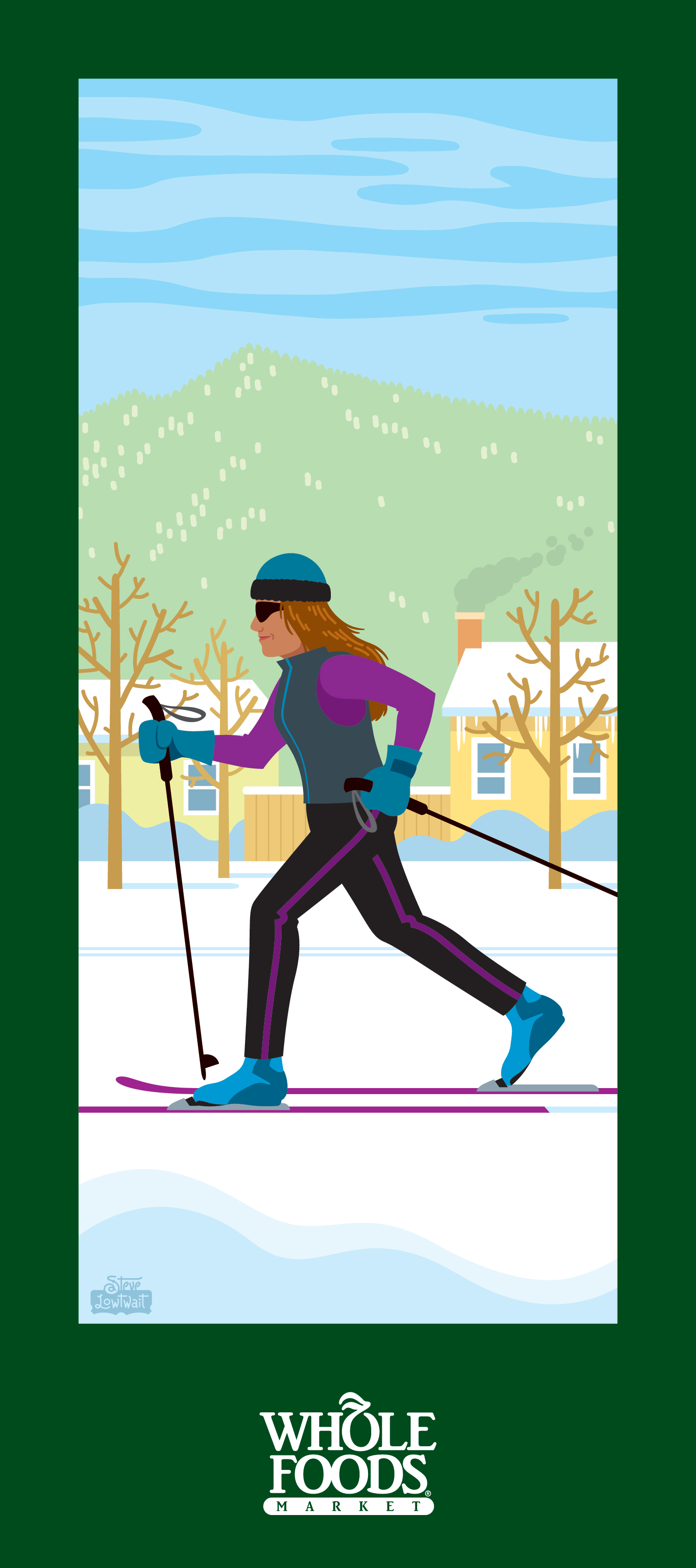 Boulder scene: Cross country skiing at North Boulder Park.