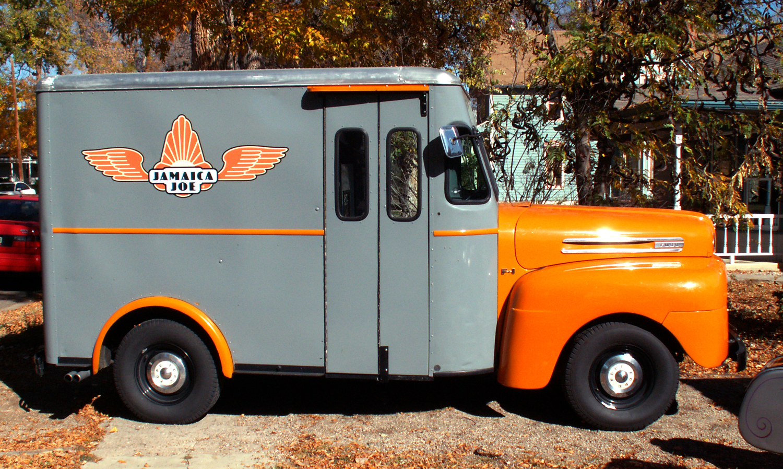 Coffee Truck  •The logo I designedfor Jamaica Joe spreads its wings across the mobile coffee shop.