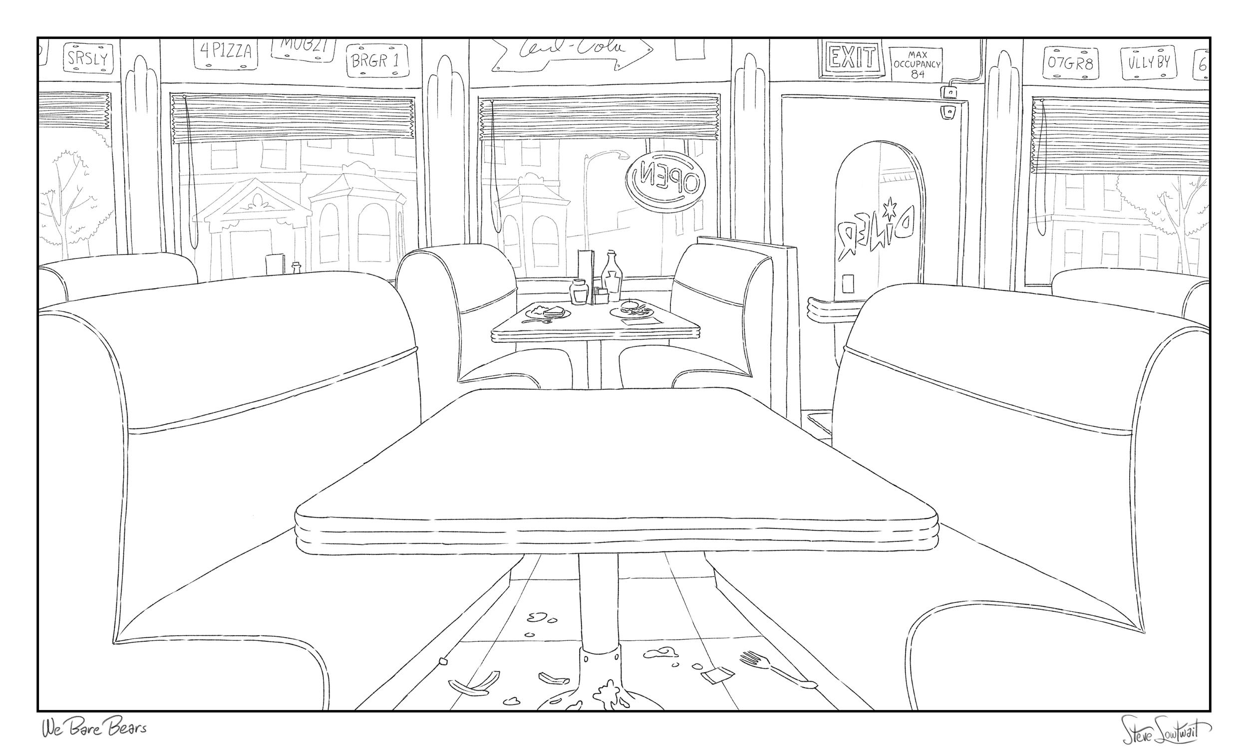 Retro styled diner.