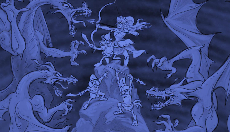 Three Caballeros - Storyboards