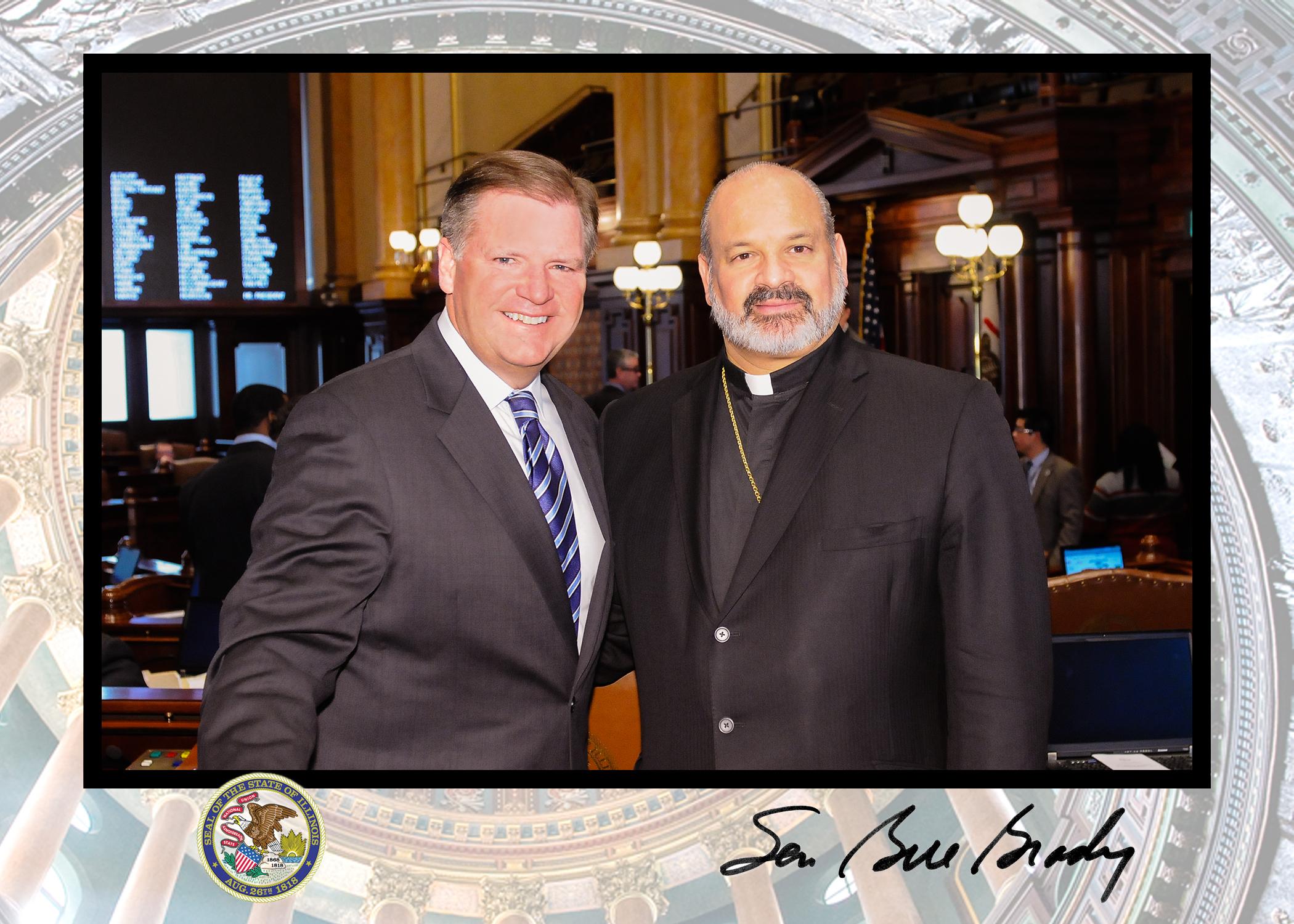 His Grace with Illinois State Senator Bill Brady