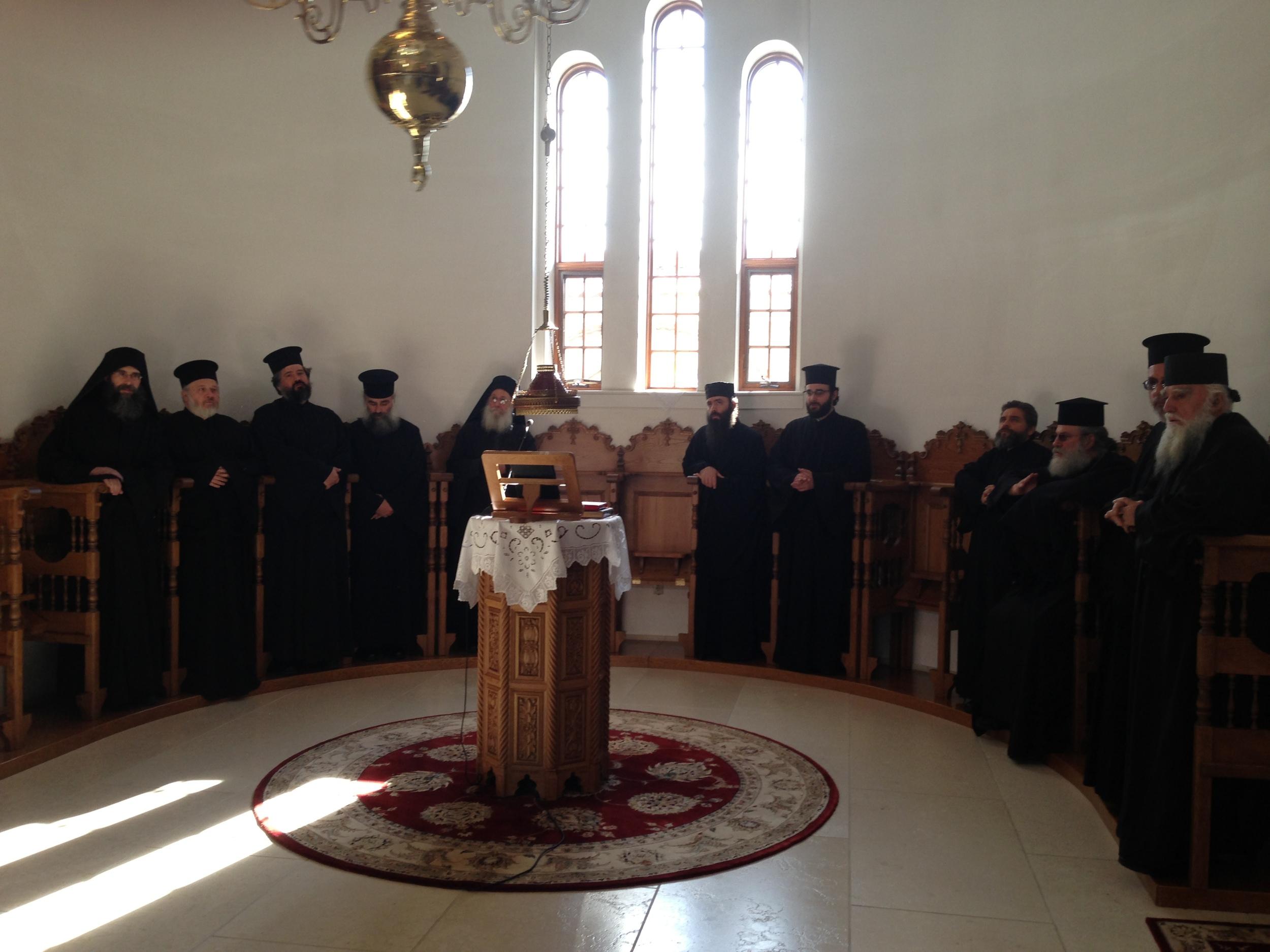 Priests at Stasidia - Feast of St. John Chrysostom 11-13-13.JPG