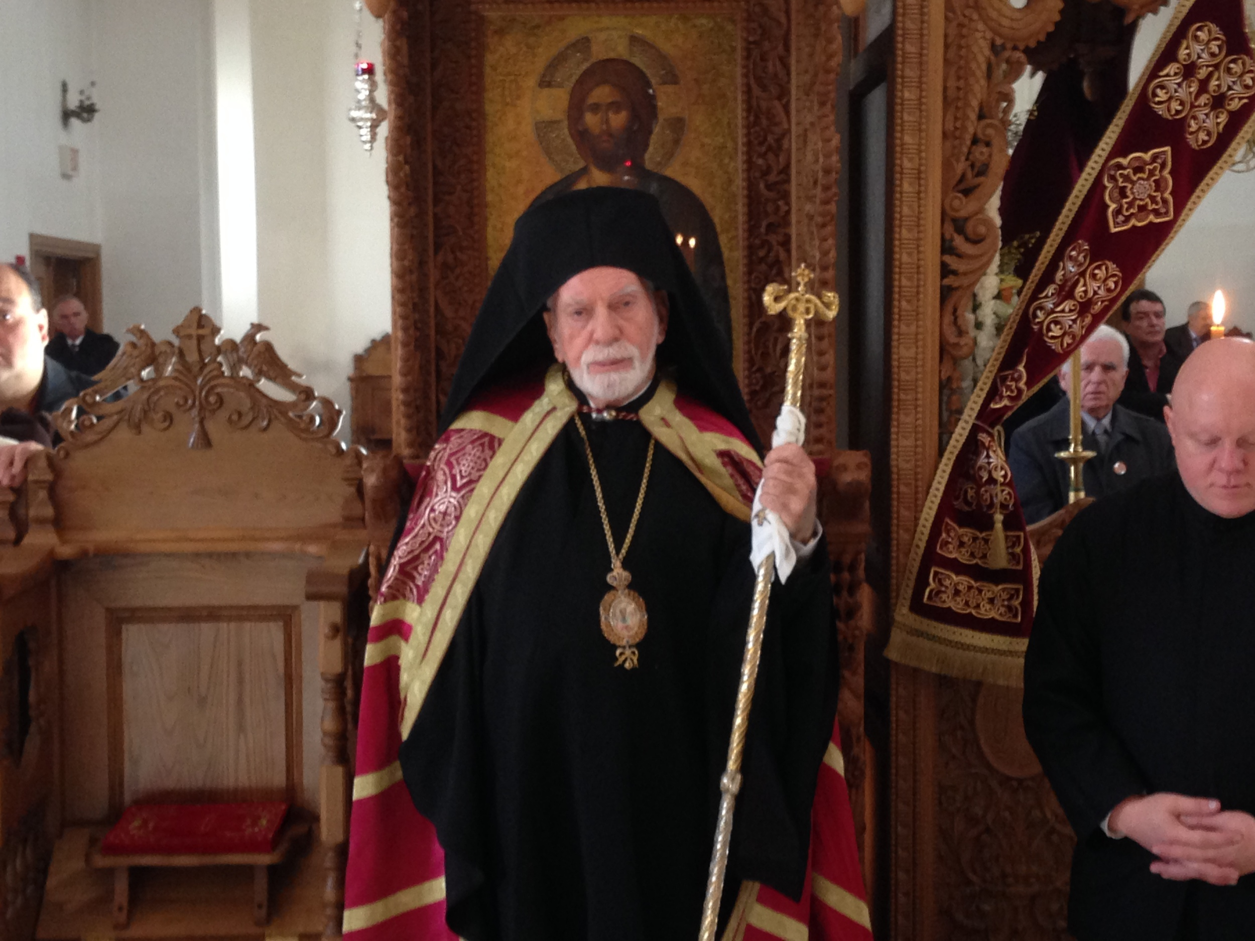 His Eminence on the Throne 11-13-13.JPG
