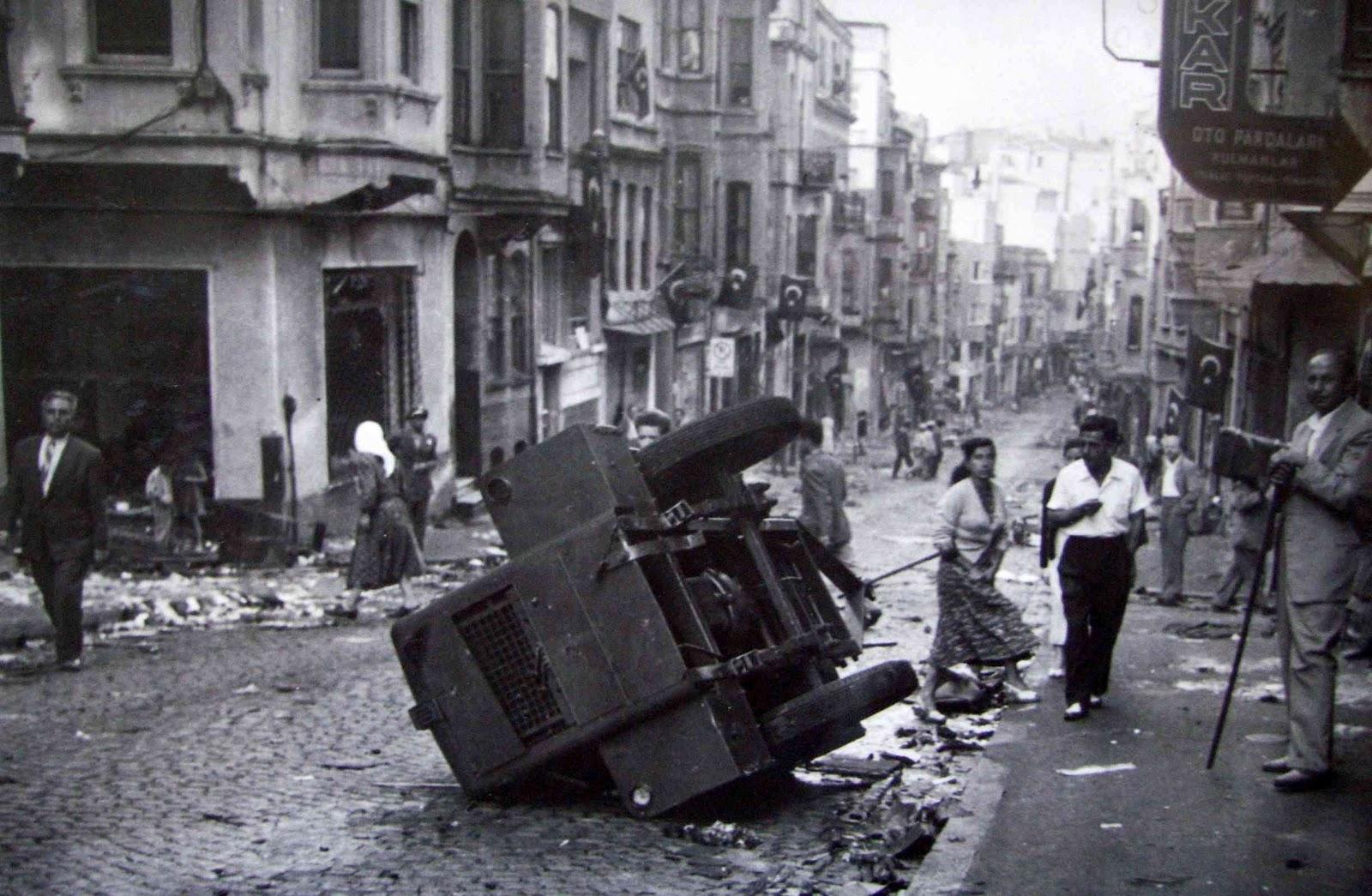 A Greek neighborhood after the pogrom of 6-7 September 1955