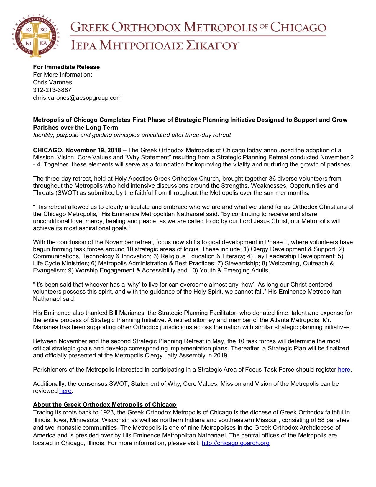 11.18.18 Strategic Planning Phase 1 press release FINAL.jpg