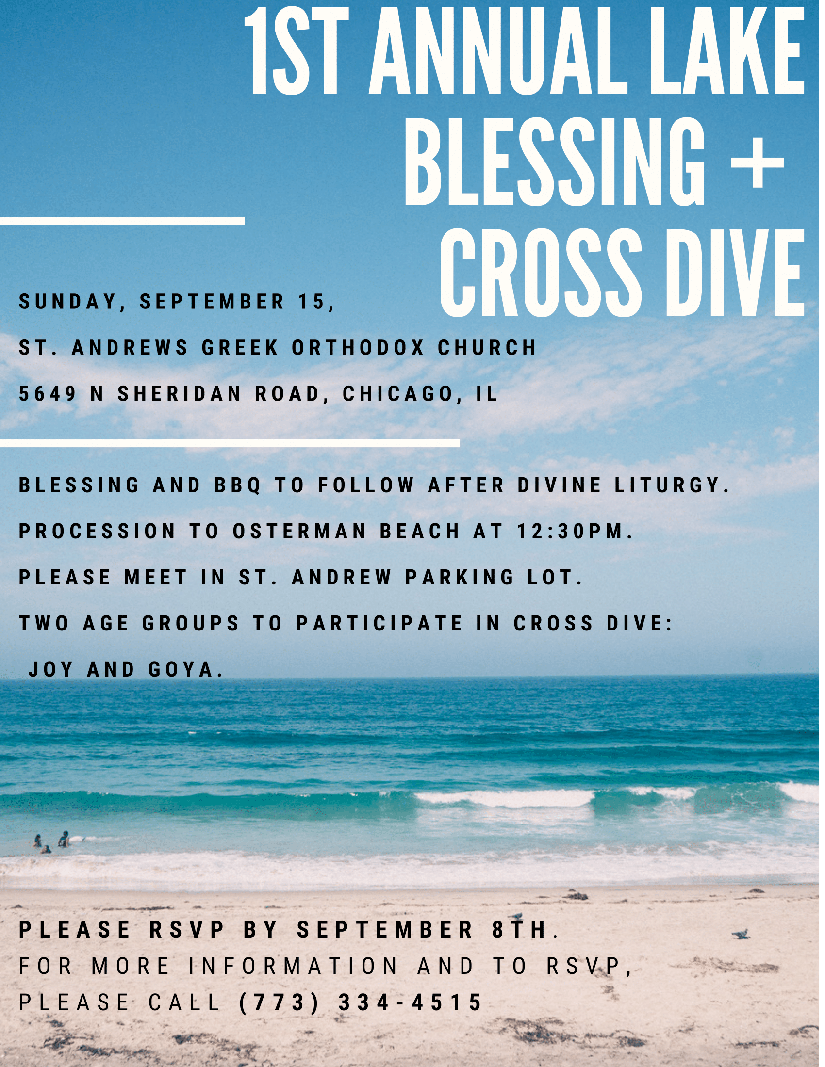 Lake Blessing and Cross Dive