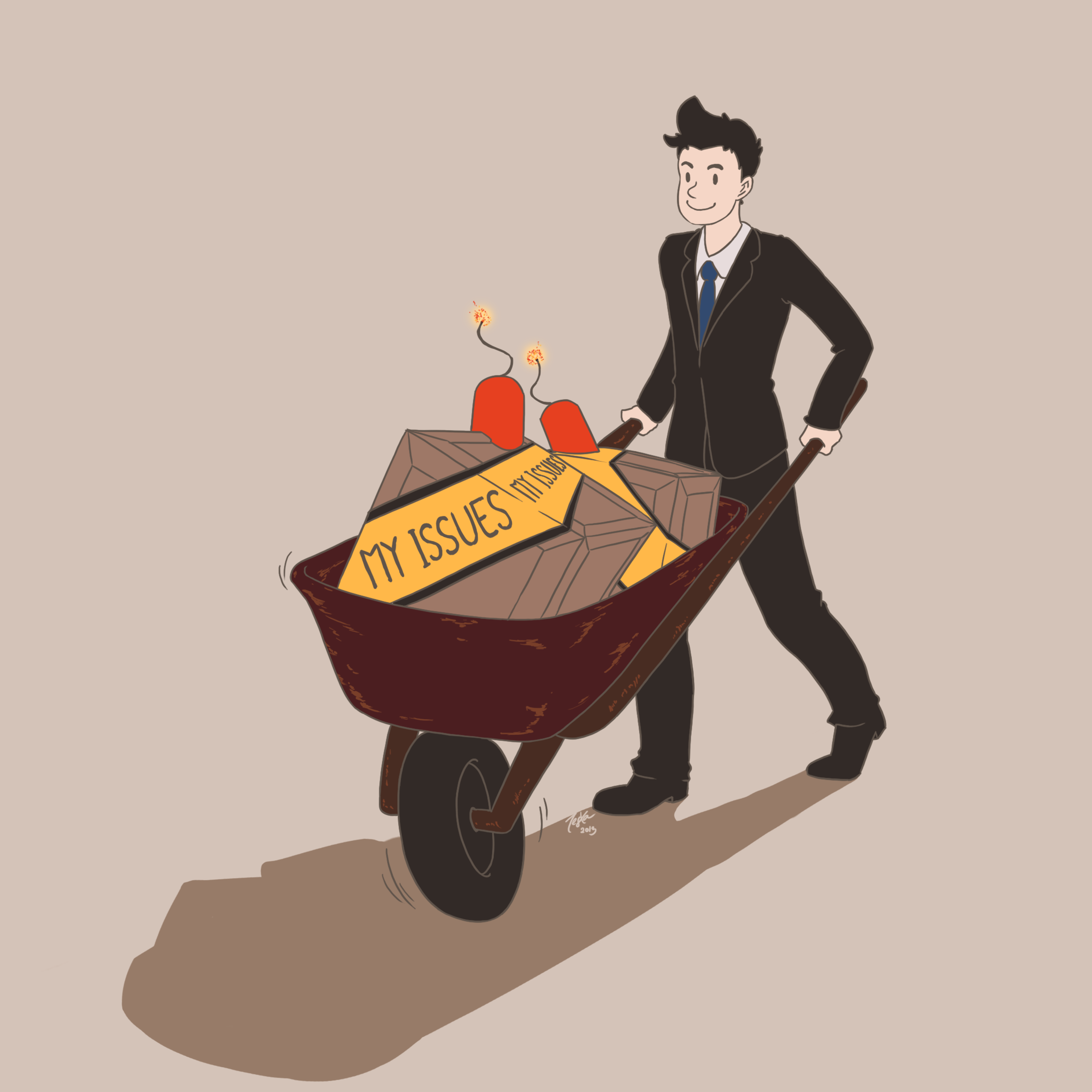 The Wheelbarrow and The Pusher