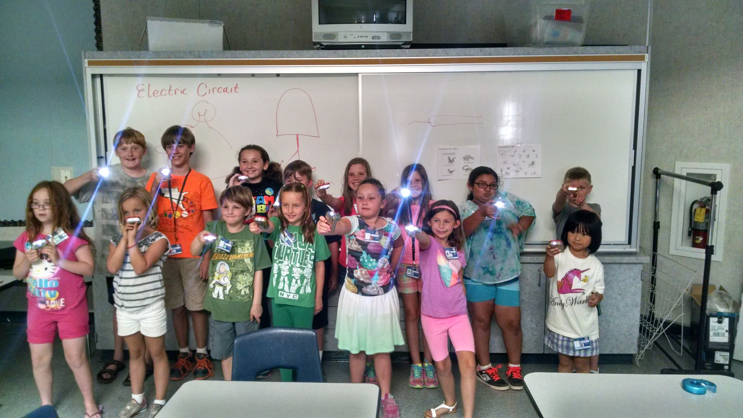Agents in Training showing off their stealthy Altoid tin flashlights.