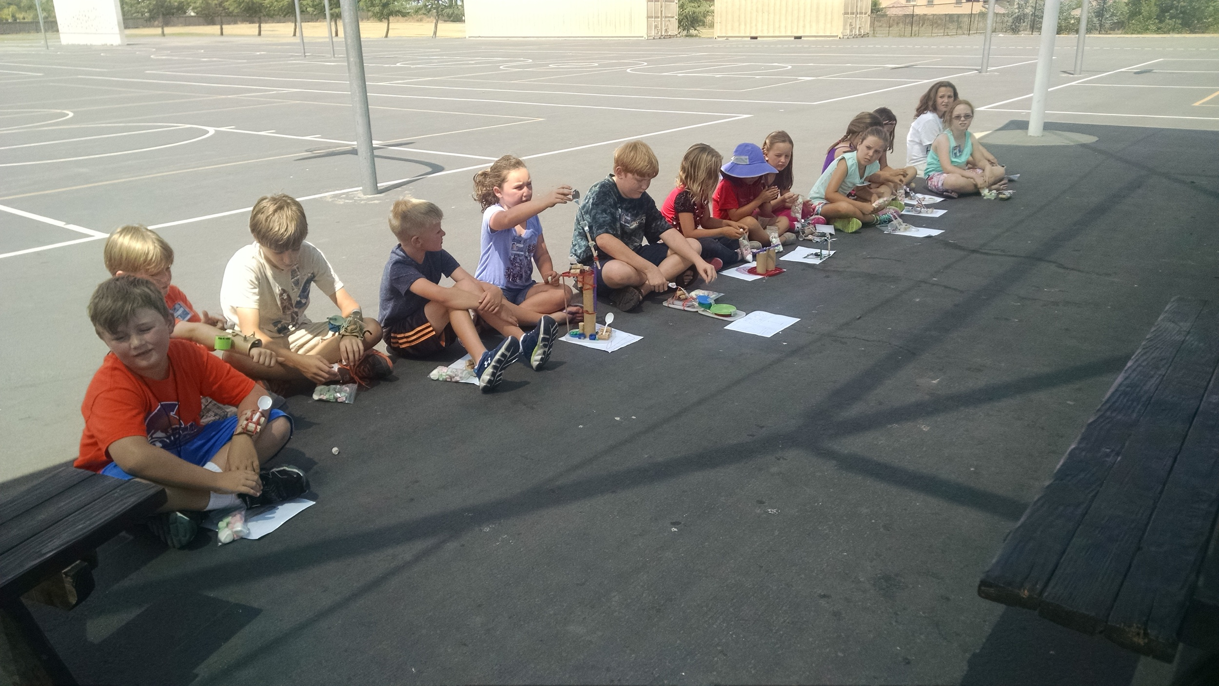 Getting ready to launch their catapults.