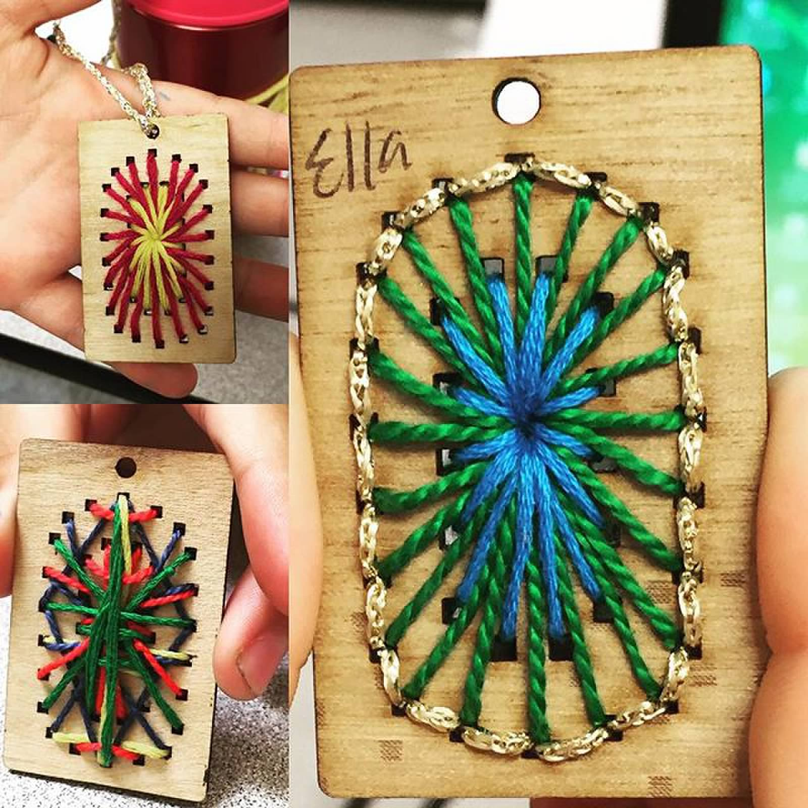 laser cut pendants