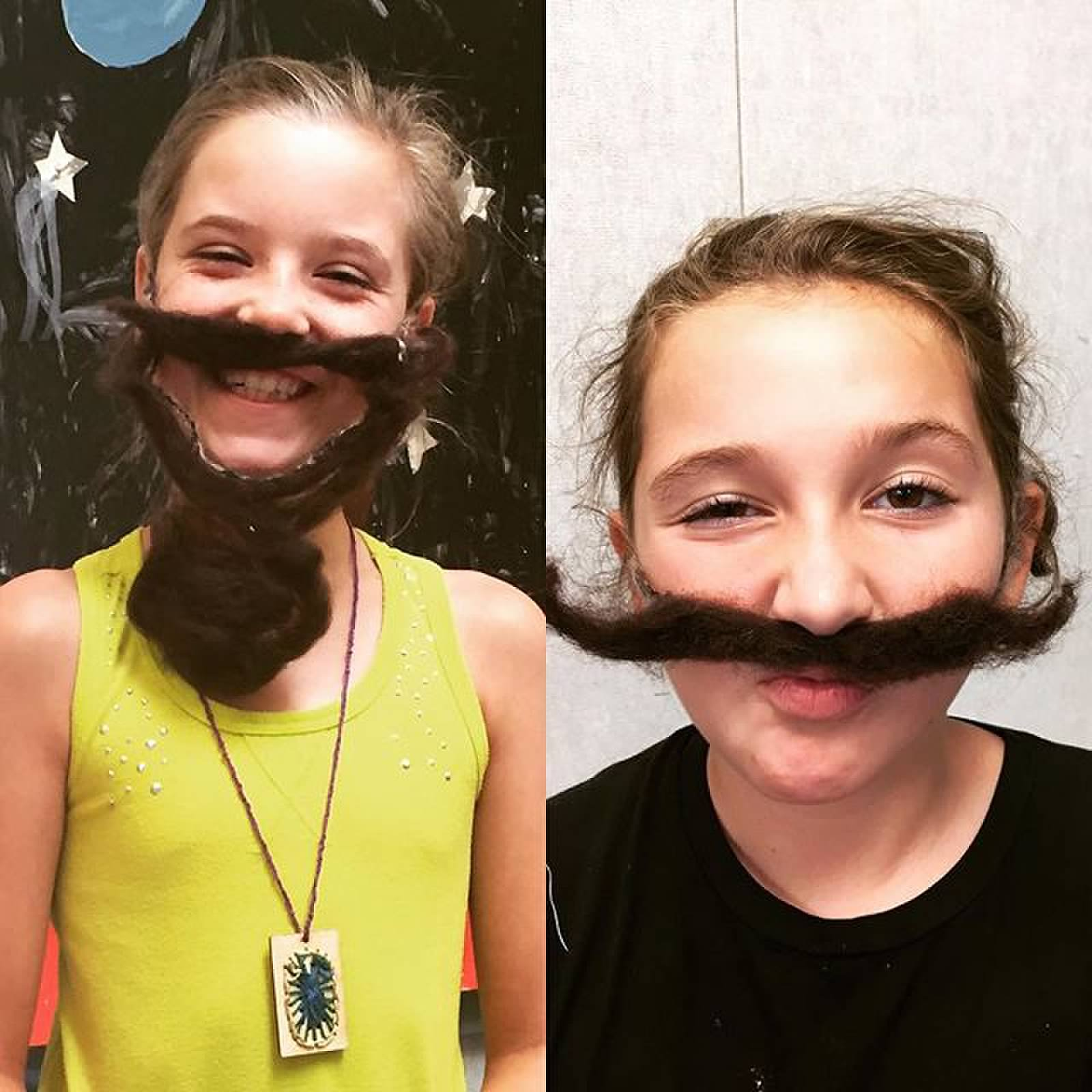 Facial Hair shenanigans during our felting workshop!