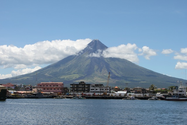 Mt Mayon viewed from Legazpi harbour.