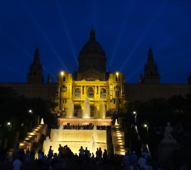 National Museum of Art - an amazing backdrop for the Magic Fountain show.