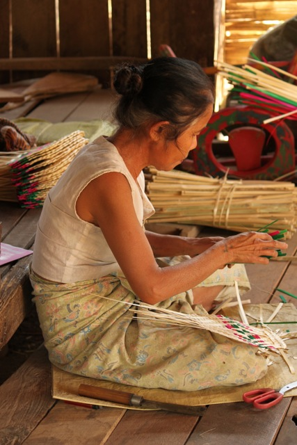 While on a day hike in Myanmar with a small group, we spent time in a village where they were making woven fans. When no-one else was looking, she gave me a huge smile and my own fan, expecting nothing in return. I was touched.  The people of Myanmar were so very, very special.