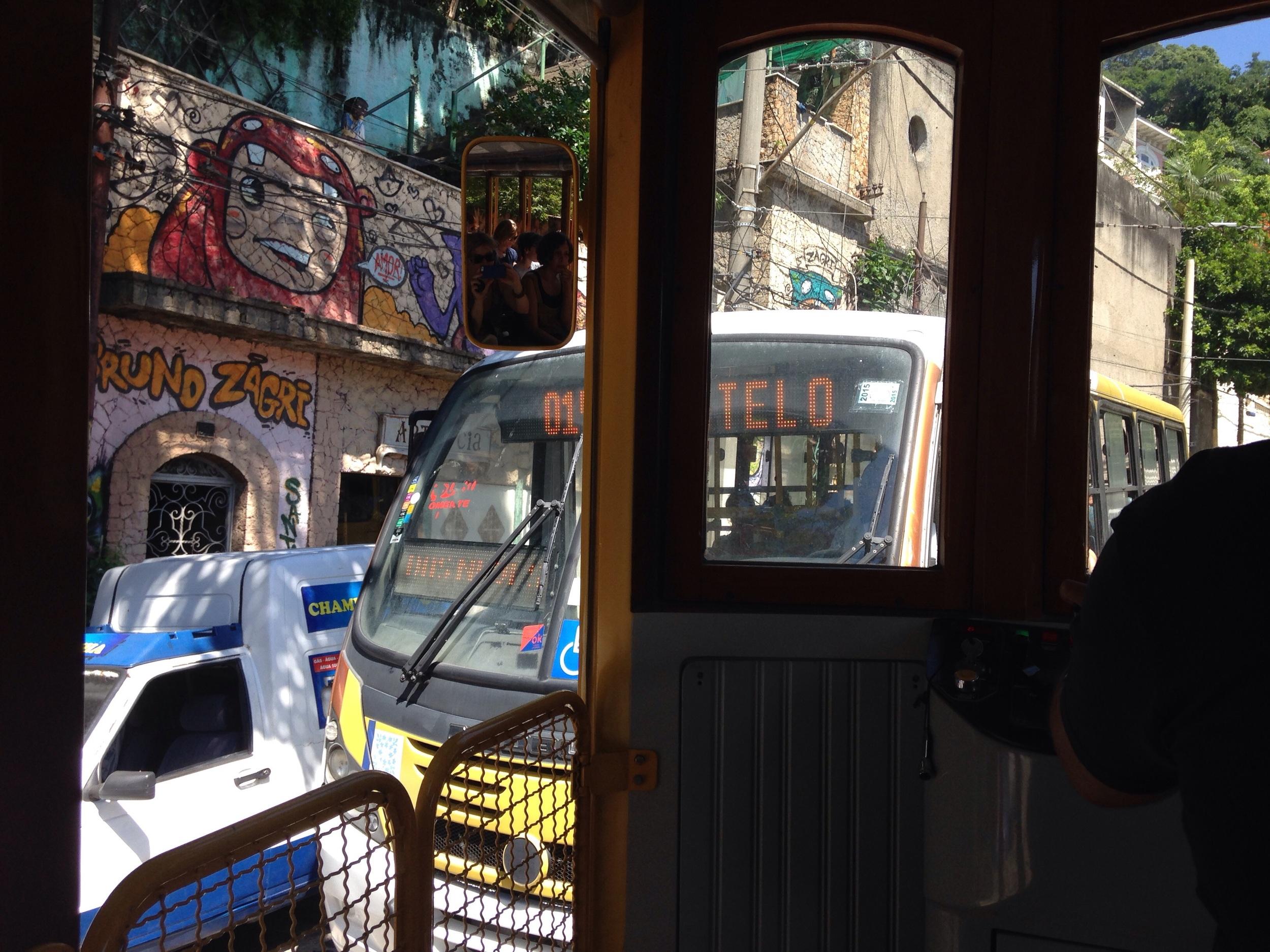 The tram (Bonde) to Santa Teresa