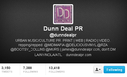 dunn deal PR James Dunn