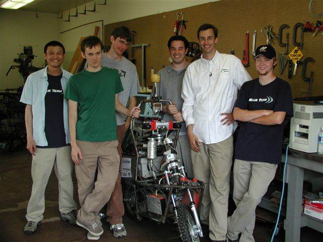 "Anthony Levandowski and UC Berekely's team with ""Ghostrider"""