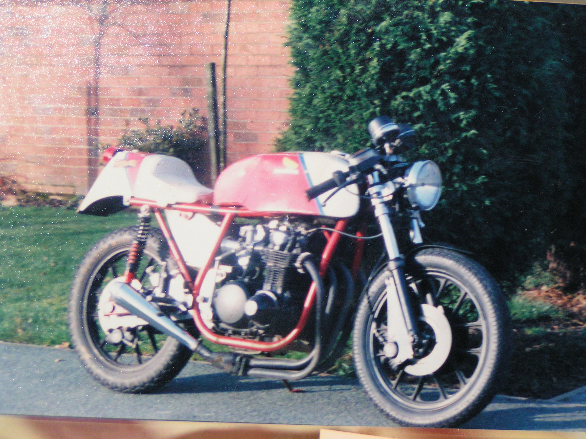 This was my Dresda CB500/4. This photo was taken around 1987.  Owner: Chris Morrison from The Netherlands