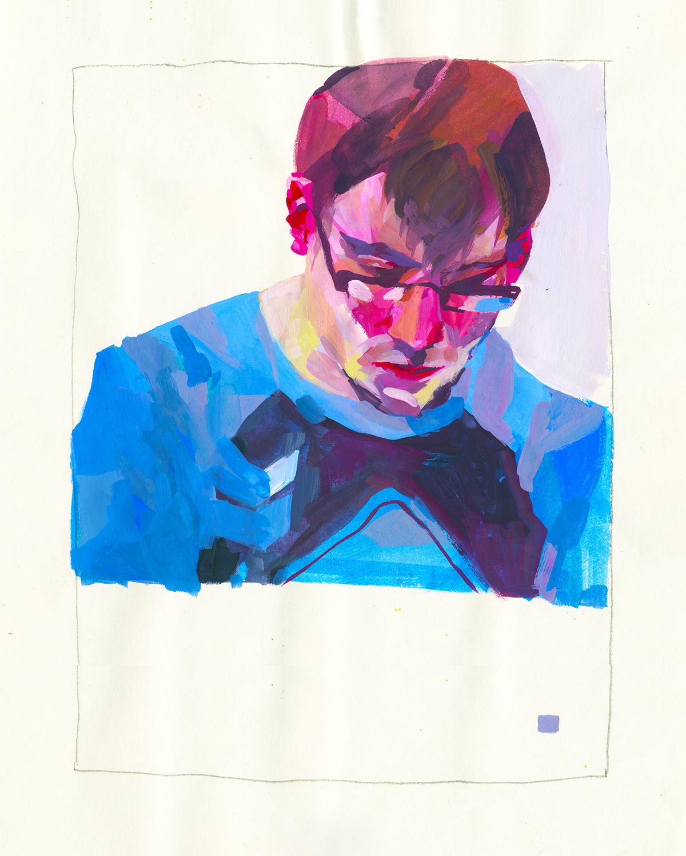 Kelsey Borcherding  •  Sketch #118 , gouache, 2013, $150 framed original