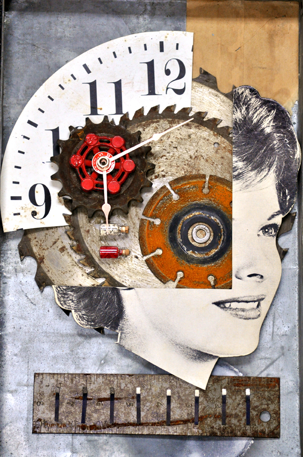 Suzanne Nelson  •  Face Assemblage , mixed media, $275 / prints $45