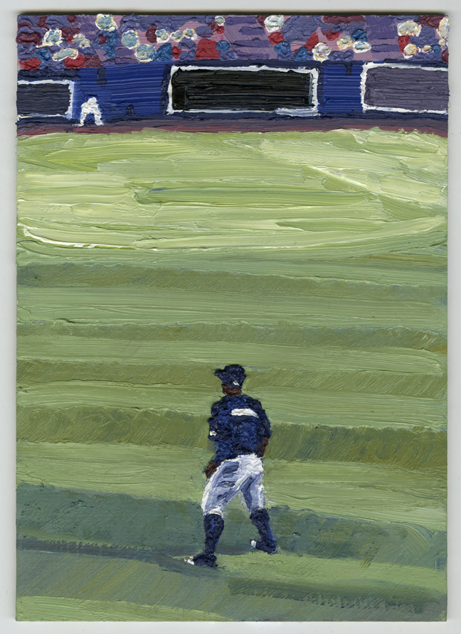 Brantly Sheffield  •  Outfield , oil on masonite, 2013, $400