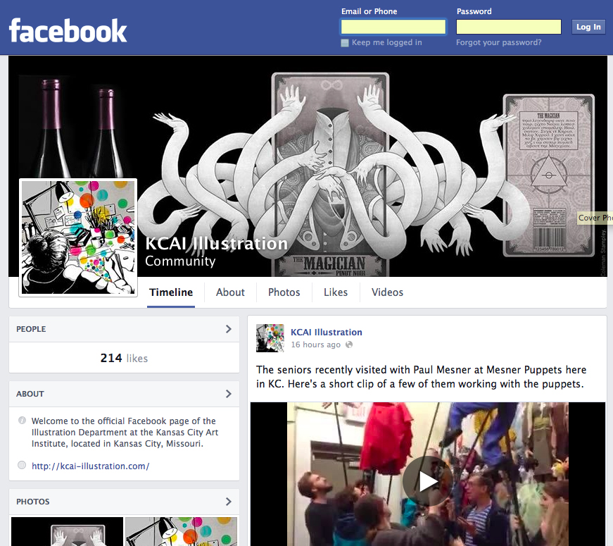 Our new Facebook page!  https://www.facebook.com/illustrationkcai
