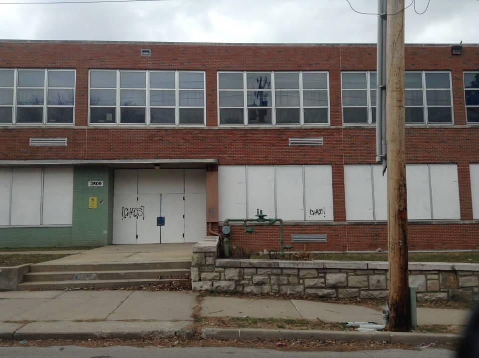 Scarritt Elementary before the murals were installed.