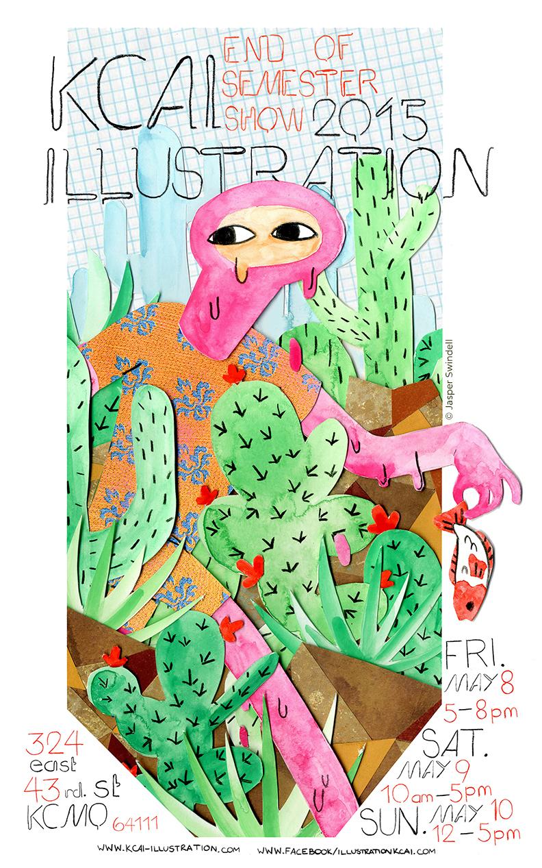 2015 exhibition poster by sophomore Jasper Swindell