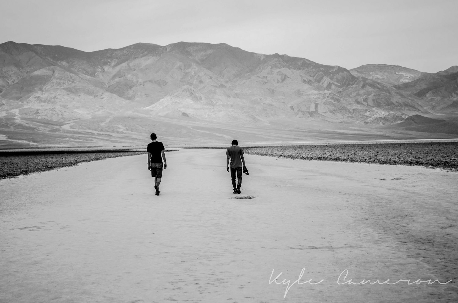 Badwater Basin, the lowest point in the United States.