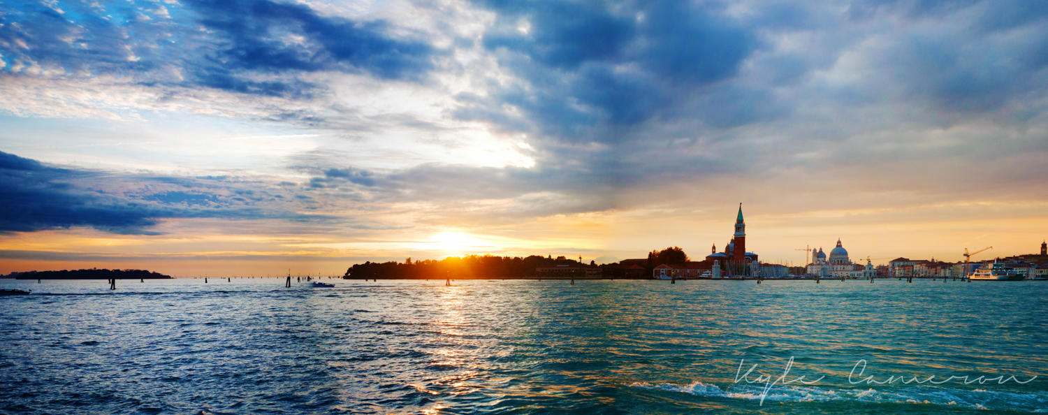 The beauty of a sunset in Venice.
