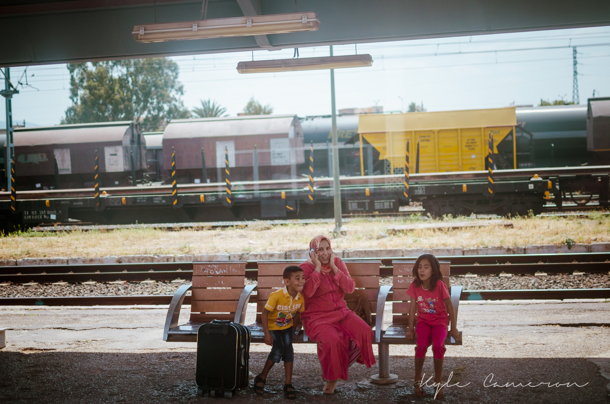 On the train from Casablanca to Fes.