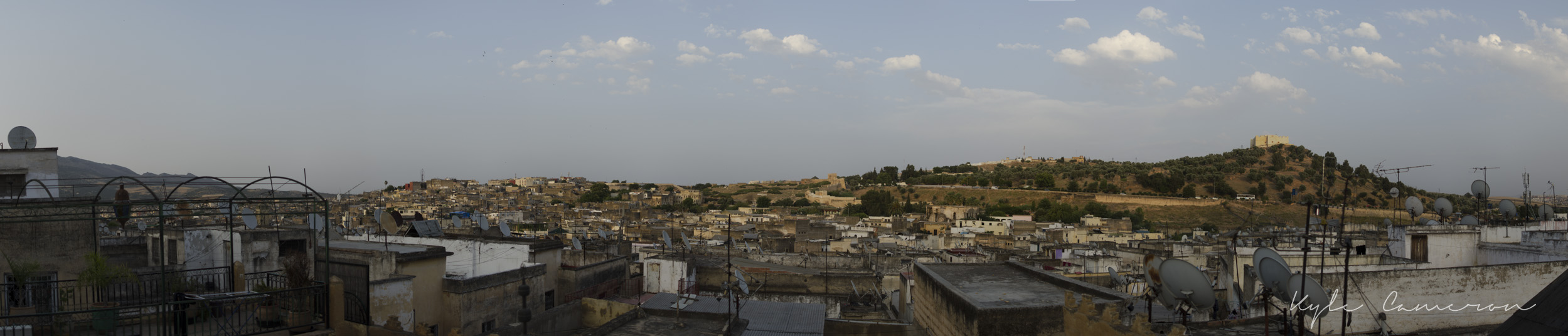 From the roof of  our hostel in Fes.