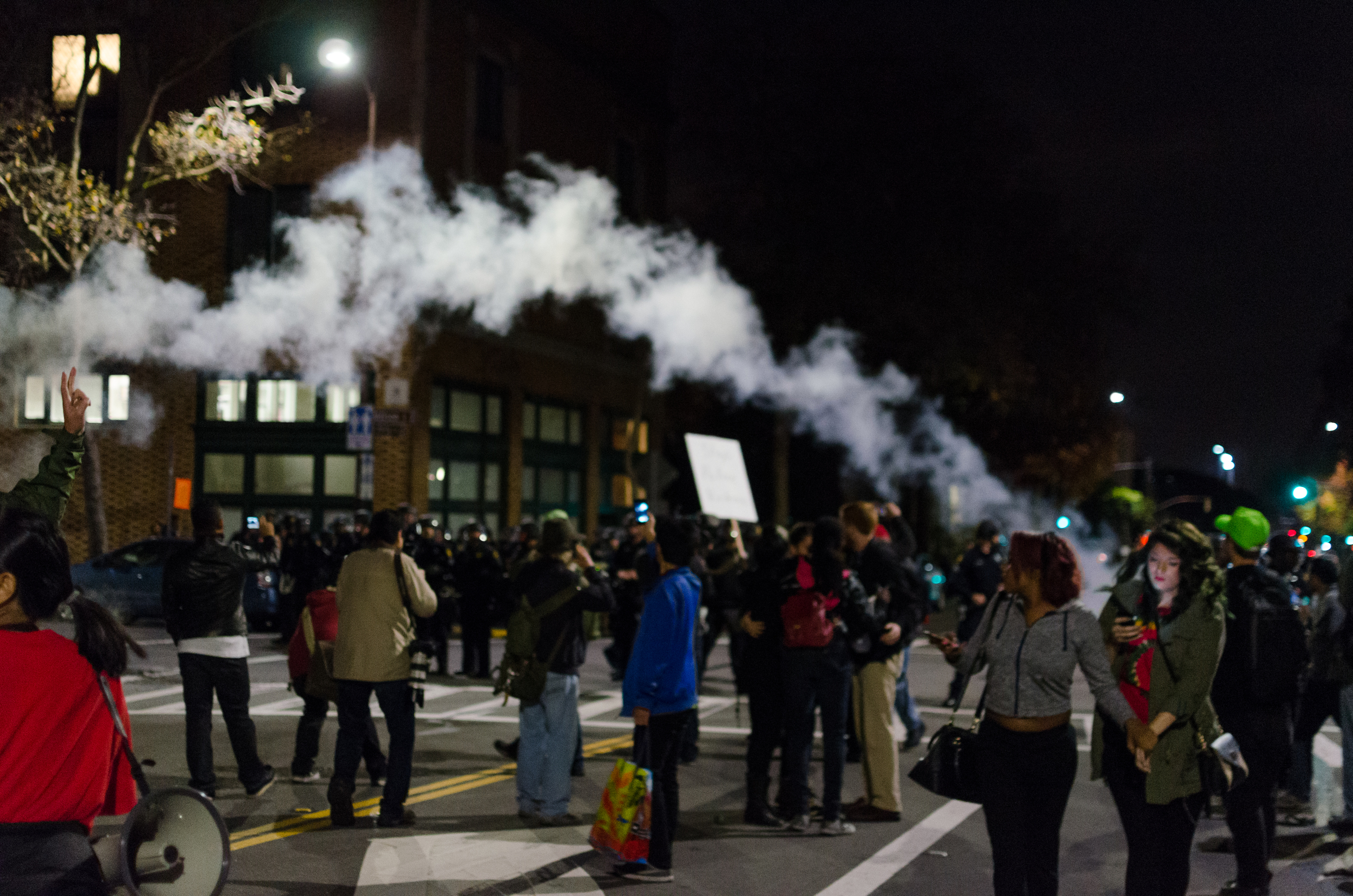 Gas or smoke fired near Police Station on December 6th - photo by Kyle Cameron