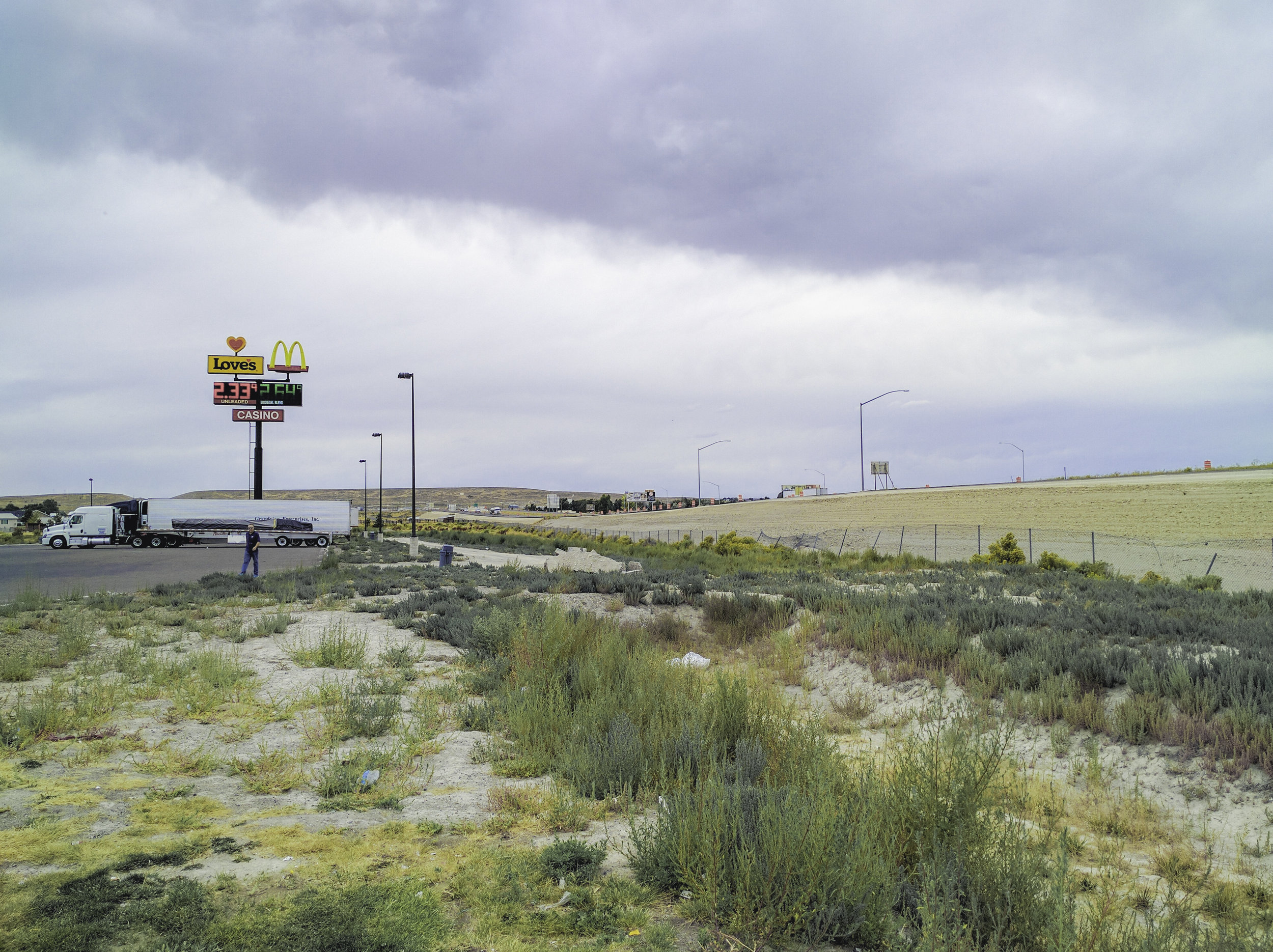 Scenic Nevada. Co-Driver pictured in center left.