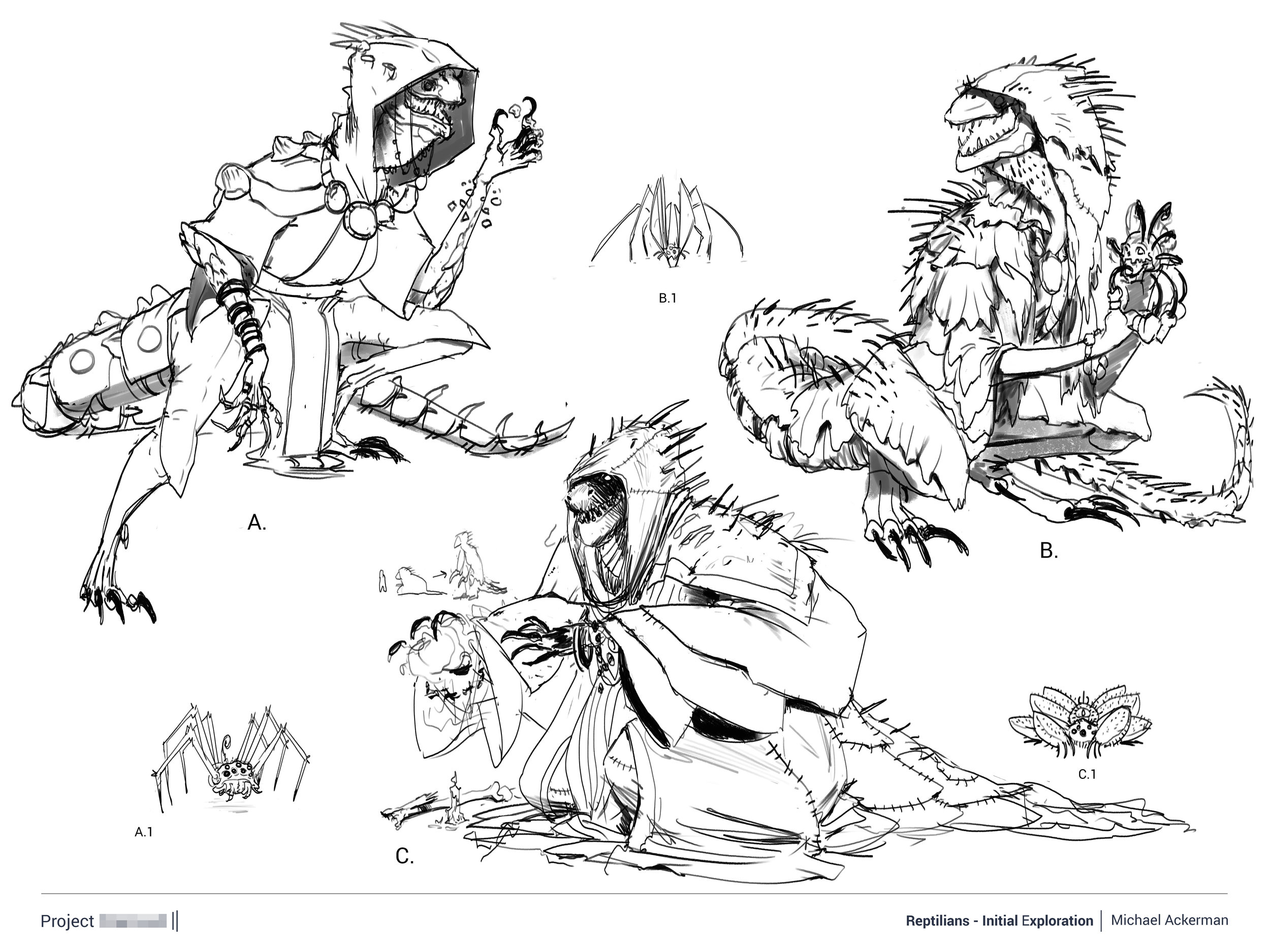 Reptilian Design Explorations