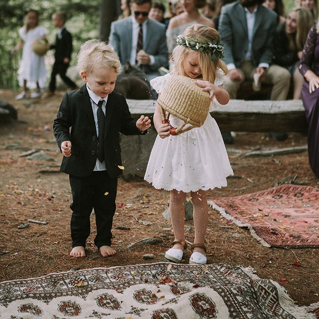 A very thorough flower girl never leaves a petal in the basket. #nhwedding #summercampwedding 📸: @jochat