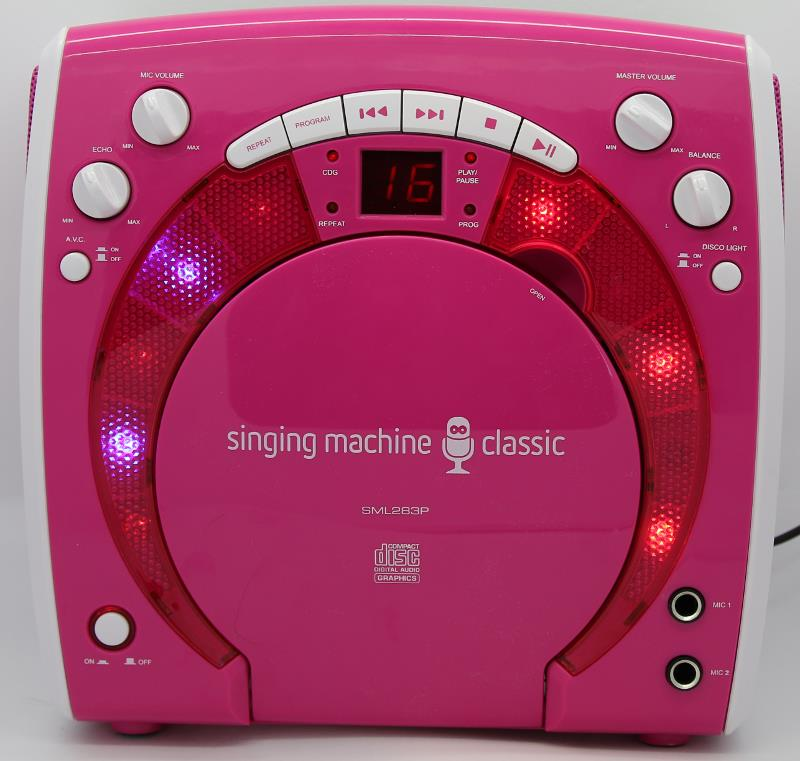 Figure 1-7:The karaoke toy is a fancy CD player with a few extra bells and whistles.