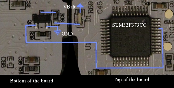 Figure 2-4: BB-8 taillight LED electrical connection.