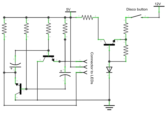 Figure 4-2: Schematic of karaoke disco light flasher