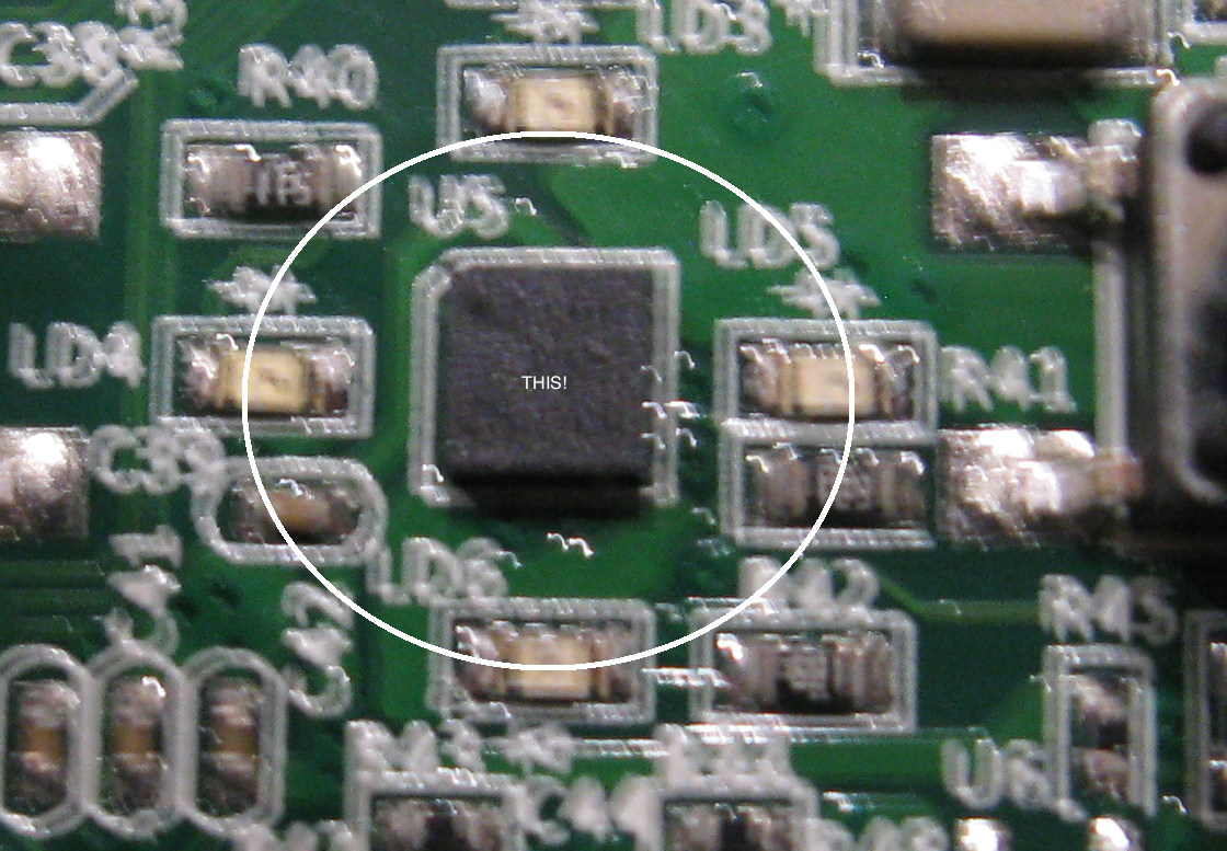 Shakey??? This accelerometer chip is  really  small!