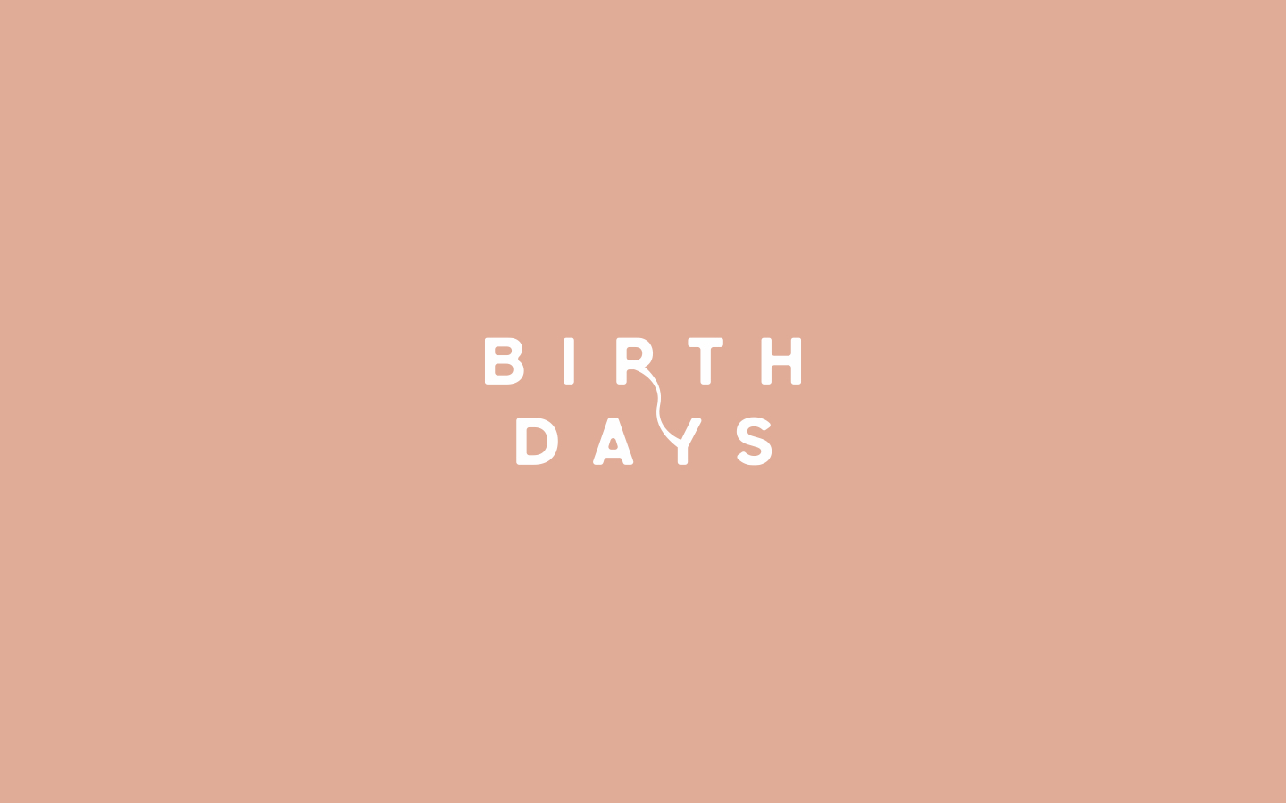 Typographical treatment for Danae Stylianou's  Birth Days.  2018 | More  here .