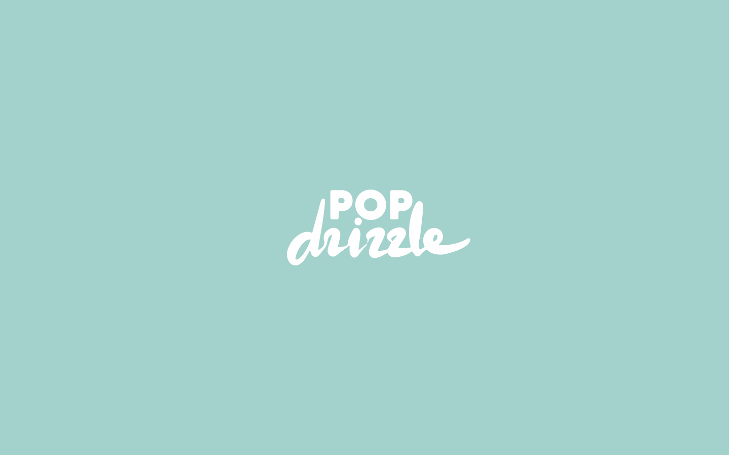 Logo for Pop Drizzle. 2018